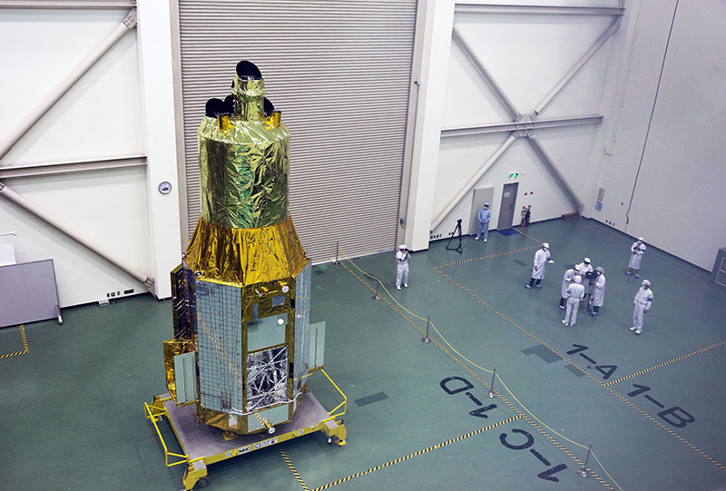 Hitomi en su configuración de lanzamiento
