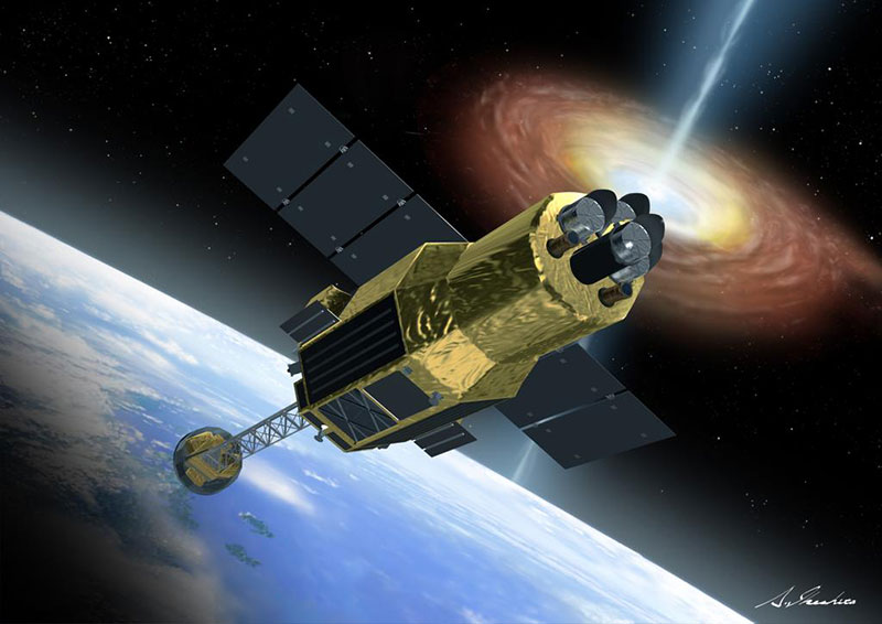 Impresión artística de Hitomi en órbita