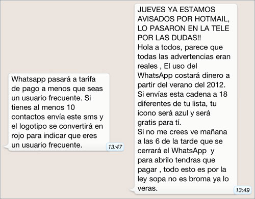 Hoax WhatsApp