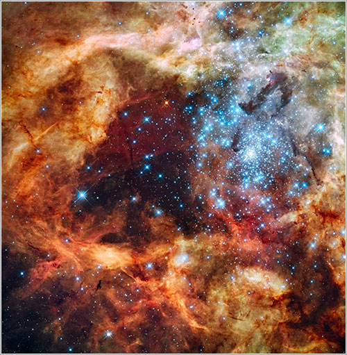 Hubble's Festive View of a Grand Star-Forming Region - Hubblesite.org