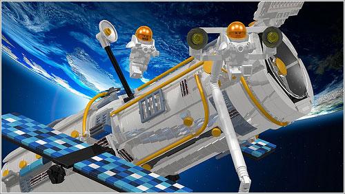 Hubble y minifigs