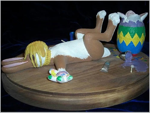 Facehugger meets easter bunny