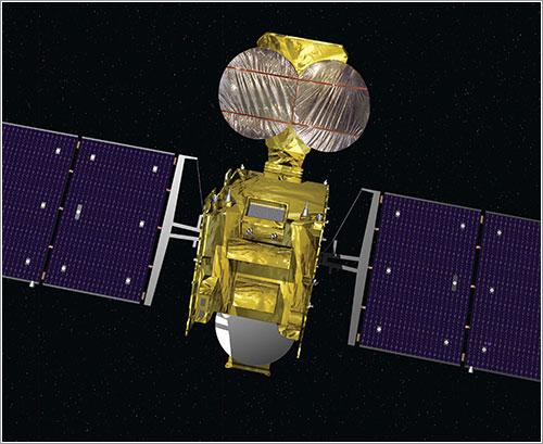Impresión artística del Hylas 1 en órbita