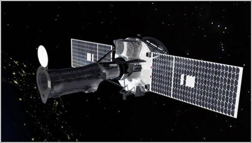 Impresión artística del IRIS en órbita