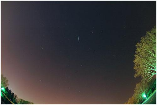 La ISS sobre Madrid el 15 de marzo de 2009 por David Montes y Jaime Zamorano