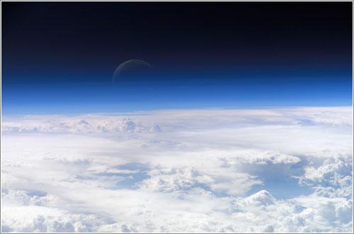 Foto del cielo desde el espacio
