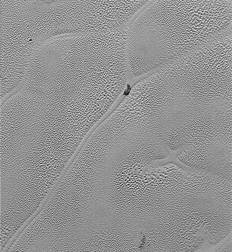 Un iceberg en Plutón