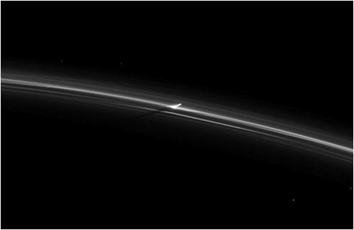 Punching through the F Ring (NASA Cassini Saturn Mission Images) - NASA/JPL/Space Science Institute
