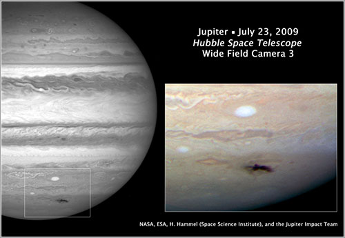 Imagen del impacto sobre Júpiter - NASA, ESA, and H. Hammel (Space Science Institute, Boulder, Colo.), and the Jupiter Impact Team
