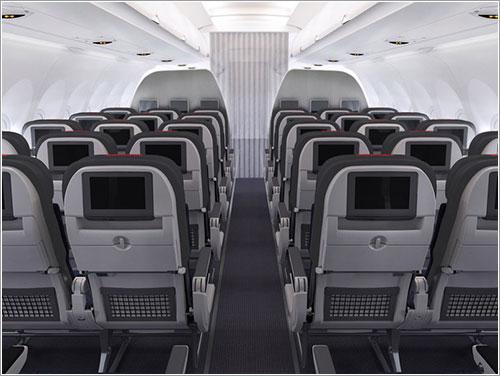 Cabina de pasajeros de un A320
