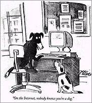 En Internet nadie sabe que eres un perro por Peter Steiner