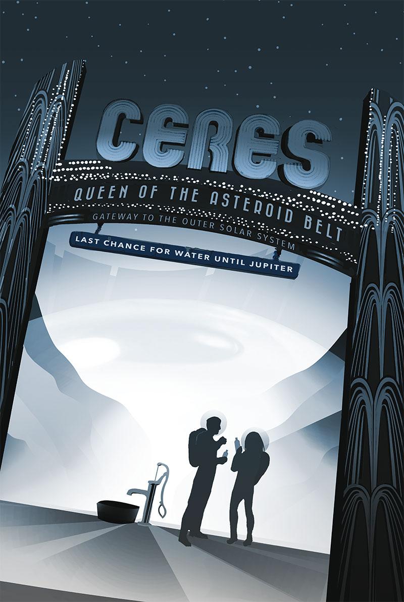 Ceres, última oportunidad de coger agua hasta Júpiter