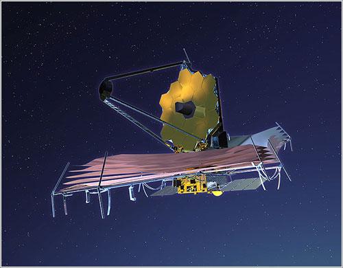 Impresión artística del JWST en órbita - NASA