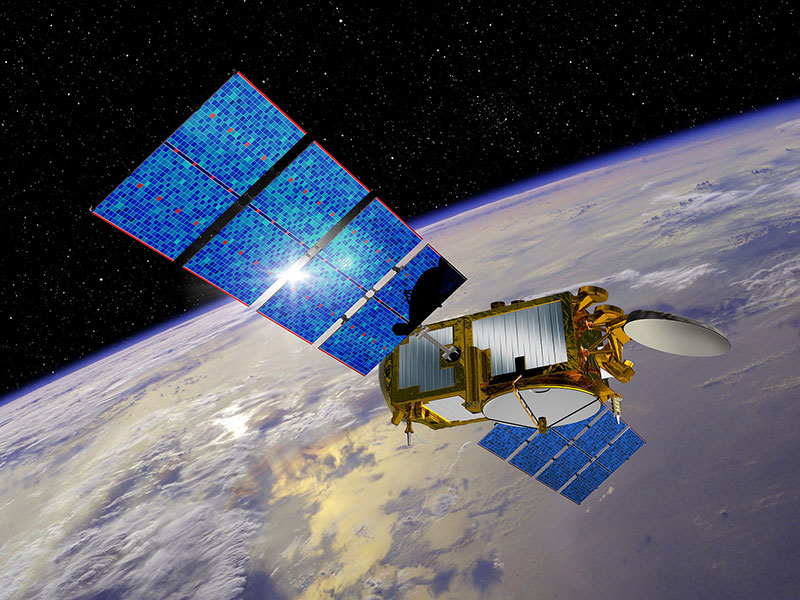 Impresión artística del Jason–3 en órbita