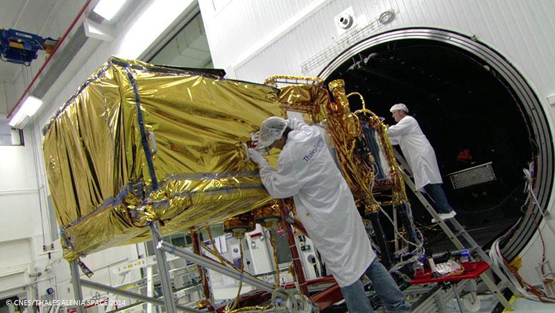 Jason–3 durante los preparativos para su lanzamiento
