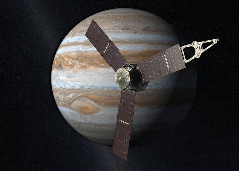 Juno en órbita alrededor de Júpiter
