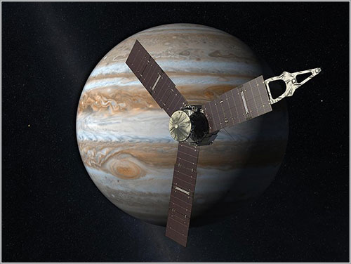Impresión artística de la sonda en órbita