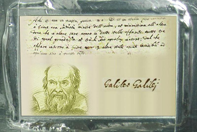 Placa dedicada a Galileo