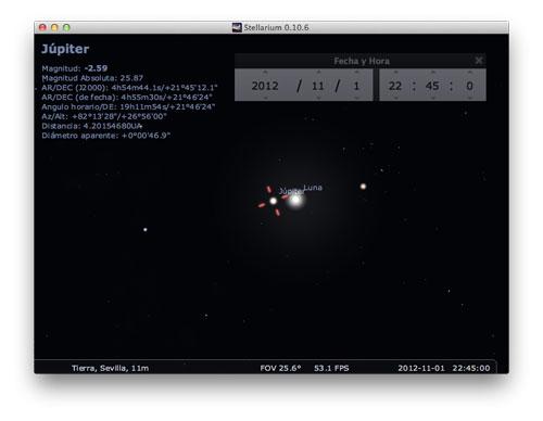 Conjunción de Júpiter y la Luna