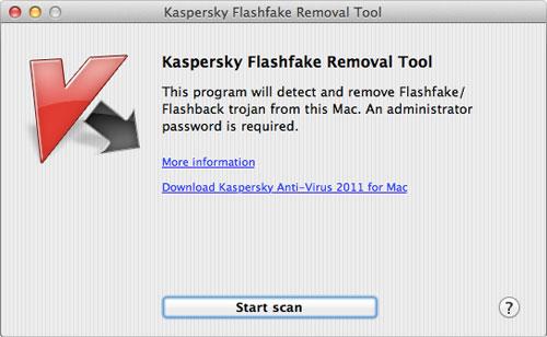 Kaspersky Flashfake removal tool