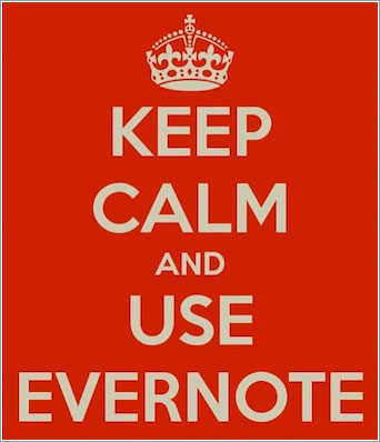 Keel calm and use Evernote