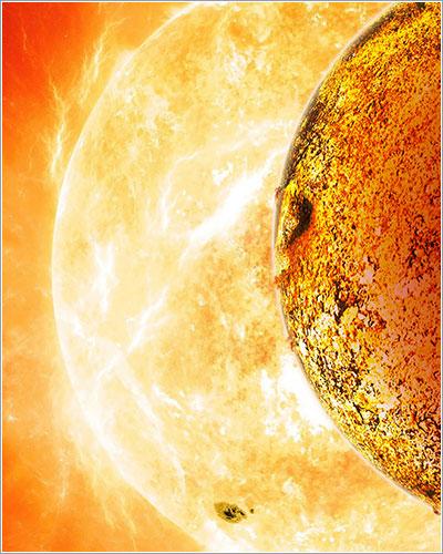 Concepción artística de Kepler-78b y su estrella