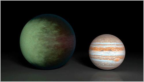 Kepler-7b y Júpiter