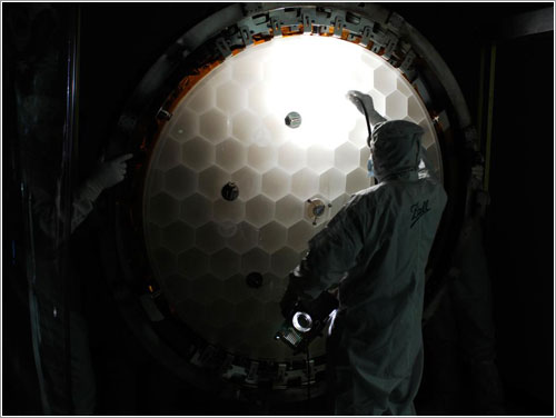Espejo principal del Kepler - NASA / BAll Aerospace