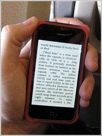 Kinde en un iPhone