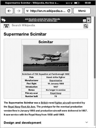 Wikipedia en el Touch