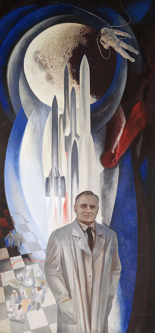 Póster dedicado a Koroliov