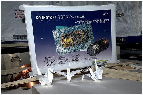 Las cigüeñas espaciales de Kounotori - ESA/Paolo Nespoli