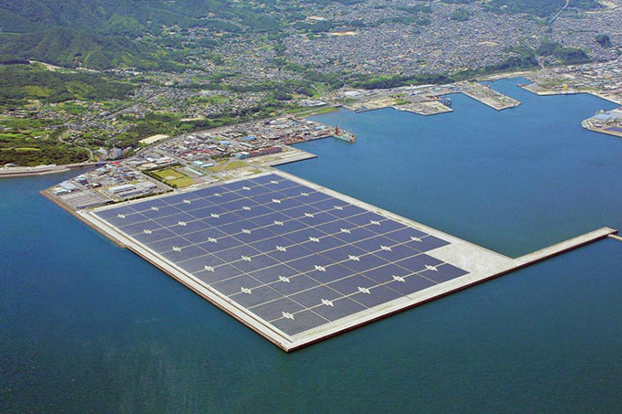 Kyocera worlds largest floating solar plant in Japan