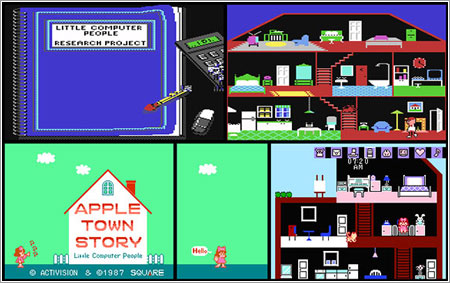 Little Computer People y Apple Town Story / Lemon64, VGMuseum.com