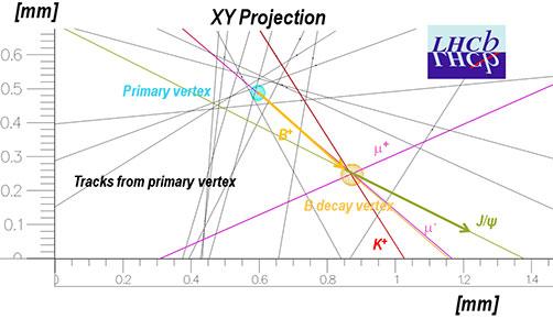 Representación de la detección - LHCb