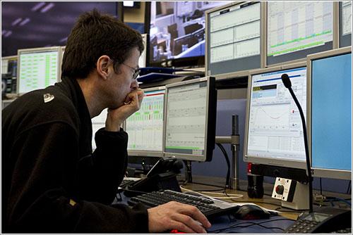 Sala de control del LHC