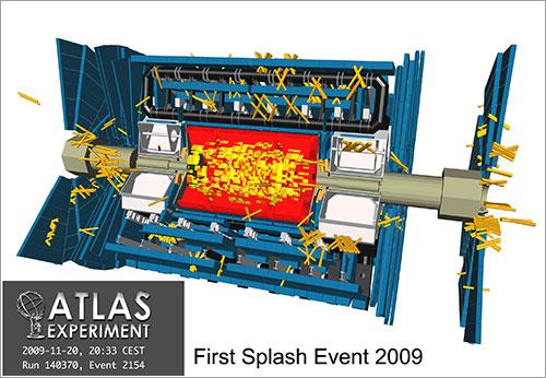 Primeros impactos en ATLAS