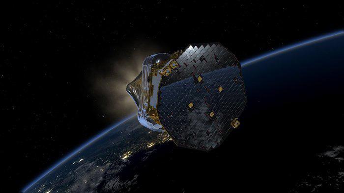 Impresión artística de Lisa Pathfinder en órbita
