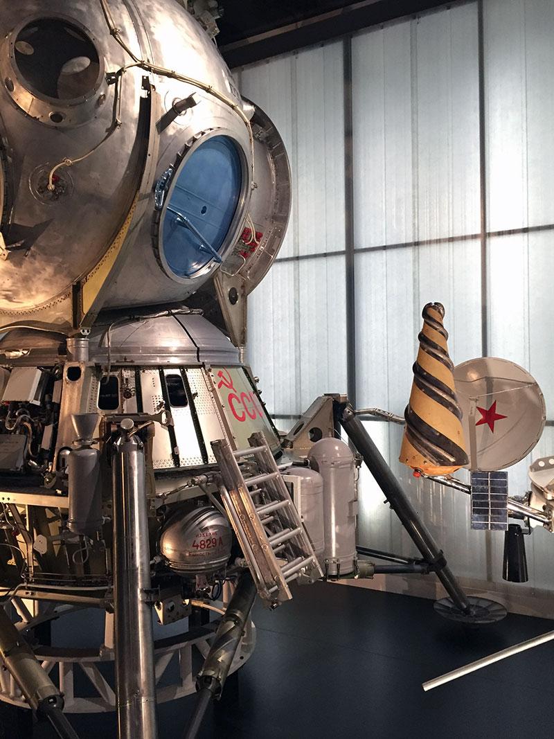 Módulo lunar LK-3 en el Science Museum