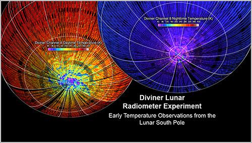 Mapa de temperaturas del Diviner - NASA/UCLA