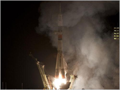 Lanzamiento Soyuz TMA-01M