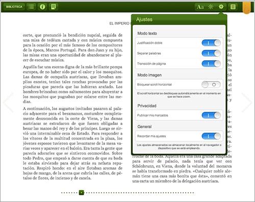 Lector web de Tagus