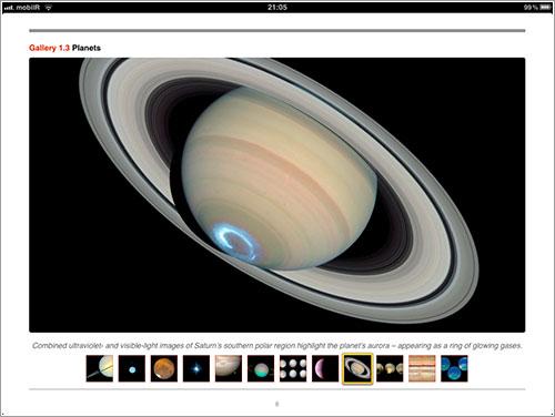 Aurora austral en Saturno