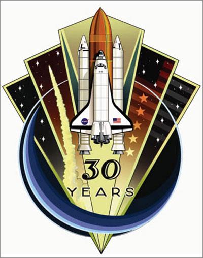 Emblema de 30 años de servicio del programa de transbordadores espaciales