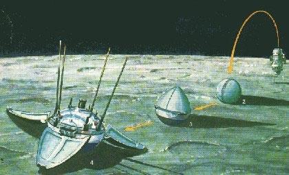 Secuencia de aterrizaje de la Luna 9