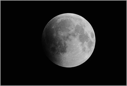 La Luna en el eclipse de diciembre de 2010