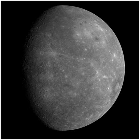 MESSENGER's First Look at Mercury's Previously Unseen Side - NASA/Johns Hopkins University Applied Physics Laboratory/Carnegie Institution of Washington