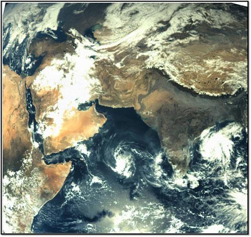 La Tierra vista por la MOM