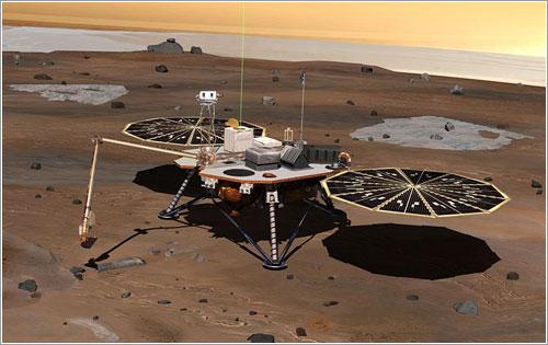 La Mars Phoenix Lander en acción en Marte
