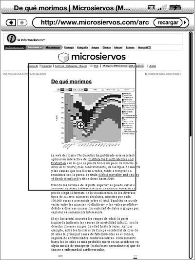 Microsiervos en el navegador del Kindle 5G